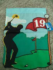 Nwt/Golf Mini Garden Flag Golfer at the 19th Hole New Creative Enterprises