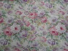 Sanderson Curtain Fabric 'Amelia Rose' 2.8 METRES (280cm) Pink/Mauve Linen Mix