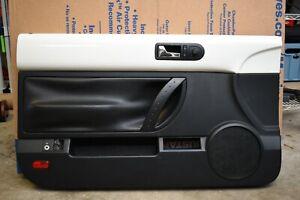 2003-2010 Convertible Volkswagen Beetle LEFT DRIVER Door Panel Black / White