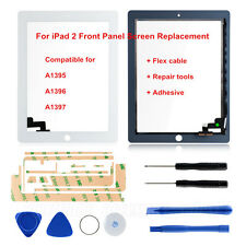 Touch Screen Lens Digitizer For iPad 2 A1395 A1396 A1397 White Replacement+Tools