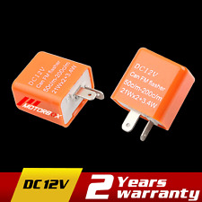 Speed Adjustable Turn Signal LED Flasher Relay Indicator Motorcycle Resistor 12V