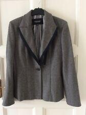 BNWOT MADISON AVENUE COLLECTION Women's Grey Tweed Wool Jacket Blazer Size 12/40