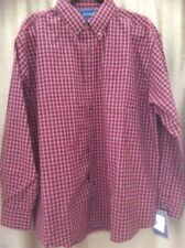 Mens  Red Check Shirt by Nob Hill Chest 51 Ins Light Weight NEW