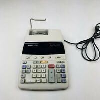 Sharp EL-2192RII 12 Digital Display 2 Color Printing Calculator Adding Machine