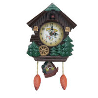 1pc Cuckoo House Wall Clock Elegant Functional Wall Clock with Pendulum for Home
