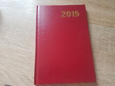 Buch-Kalender rot Kalenderbuch Buchkalender Chef Terminplaner 2019 A5/C5