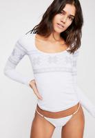 NEW Free People Intimately Seamles Intarsia Top Snowflake White  XS/S-M/L $62.88