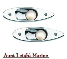 Pair Red Green LED Flush Mount Recessed Navigation Side Lights Stainless 02151