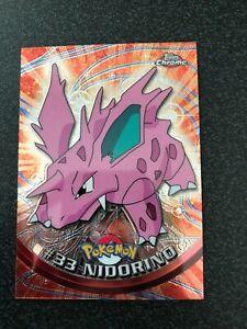 Pokemon Topps Chrome Holo #33 Nidorino Mint/NM