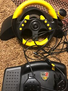 Mad Catz Universal MC2 (6320) Steering Wheel and Petal, Xbox, GameCube & PS2