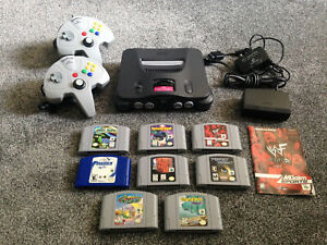 N64 Nintendo 64 Bundle Lot With 8 Games