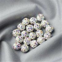 10mm Shamballa Crystal Rhinestone Pave Clay Round  Ball Beads 100PCS Makings