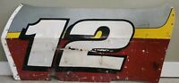 Vintage RACE CAR side  PANEL #12 wall decor man cave red silver yellow large