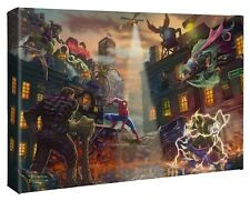 Thomas Kinkade Studios Spider-Man vs. the Sinister Six 10 x 14 Wrapped Canvas