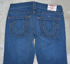 True Religion Bobby Bootcut Jeans Women's Sz 30 DIstressed with Stretch L32