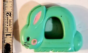 VTG The First Years 1977 AVON Green Bunny  Plastic Baby Rattle