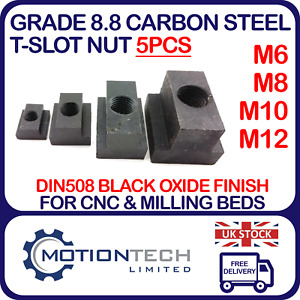T-Nuts M6 M8 M10 M12 Iron Oxide T Slot Clamping Nuts for Machine Bed Milling CNC