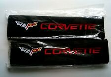 UK P&P Set Corvette Seat Belt Cover Shoulder Pads CORVETTE Vette Protector Chev