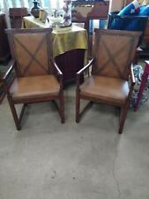 2 GORGEOUS HENREDON LEATHER SITTING CHAIRS ACQUISITIONS COLLECTION