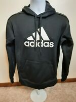 Adidas Pullover Hoodie White Black Logo Climawarm Vented Mens Size Small S