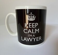 Keep Calm I'm A Lawyer Mug In Carry On Style Black Gift Present Mug Cup