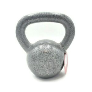20 lb Weider Cast Iron Kettlebell Weight Hammertone Finish New Fitness Training