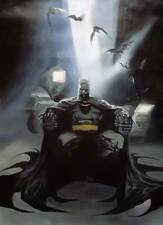 Batman painting 40x28 Framing avail.Bane Joker Dark Knight Two face Gotham