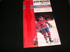 1986-87 PRO-SPORT AUTOGRAPH CARD ° MTL. CANADIENS  No.30 °CHRIS NILAN<>