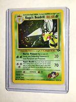 Koga's Beedrill - 9/132 - Gym Challenge - Holo SWIRL Error - Pokemon Card - NM