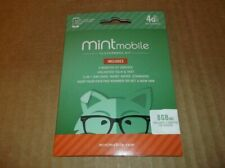 Mint Mobile 4G LTE 8GB Data 3 Month Kit 3-in-1 Sim Card BYOP Unlimited Talk Text