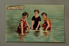 R&L Postcard: Sea Nymphs, Bathing Beauty Ladies in Costumes, Coloured Photo
