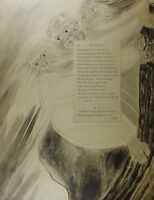 1922 TAMAÑO REAL WILLIAM BLAKE LETRAS GRANDES QUE ILUSTRAN THOMAS GRISES POEMA