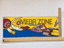 ARCADE GAME UPPER MARQUEE ORIGINAL MEGAZONE by Kosuka Co LTD & Konami 1983