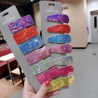 Fashion Women Colourful Hair Clips Stick Snap Barrette Hairpin Hair Accessories