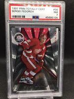 1997-98 Pinnacle Totally Certified Platinum Red Hockey Sergei Fedorov PSA 7