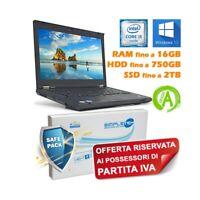 "NOTEBOOK COMPUTER PORTATILE LENOVO T430 I5 3210M 14"" TASTIERA ITA PER P.IVA W10."