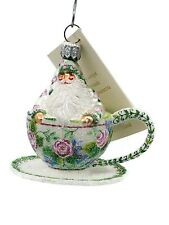 Patricia Breen Tea for Two Floral Spring Holiday Tree Ornament Tea Party Cup