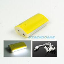 5200MAH BACKUP BATTERY CHARGER USB YELLOW GALAXY S4 NOTE TAB KINDLE FIRE NEXUS 7