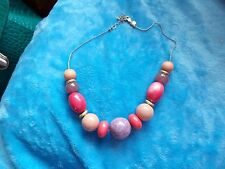 MARKS & SPENCER M&S SHADES OF PINK GRADUATING ABACUS STYLE  NECKLACE 76-64