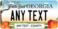 Georgia State Personalized License Plate Metal Tag For Car ATV Moped Wagon