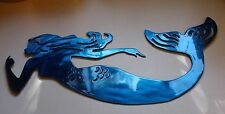 Swimming Mermaid Metal Wall Art blue