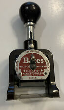 BATES DUPLICATE CONSECUTIVE TRIPLICATE AUTOMATIC NUMBERING MACHINE STAMP