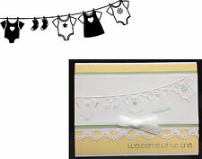 Darice Embossing Folders BABY CLOTHES LINE folder 1218-130 Cuttlebug Compatible