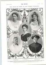 1905 Mrs Ryder Haggar Lady Parker Mrs Jerome K Jerome