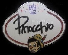 DISNEY PIN HKDL - Name Tag Mystery Collection - Pinocchio -  Two year old pin!