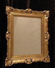 Baroque Wall Mirror Gold Bathroom Bar 90x70 Rectangular Antique 3057