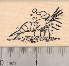 Christmas Krill Shrimp Rubber Stamp E19303 WM