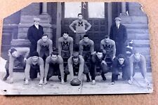 RARE 1911 State Champs Football Real Photo Postcard ( RPPC ) Michigan ? ID'd