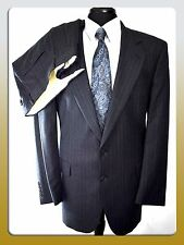 Joseph & Feiss 42R/34W Charcoal 2 Button Wool Suit Notched Lapels Pleated Pants