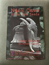 New listing Original Concert Poster Nick Cave Bad Seeds The Fillmore August 1995 Bill Graham